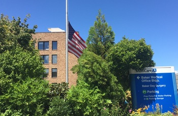 Flag at Half Staff on the MultiCare campus